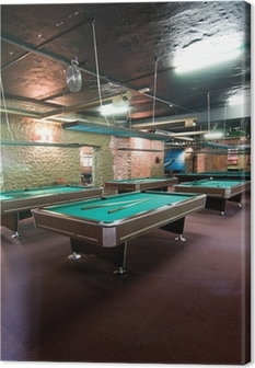 Billiard room Canvas Print