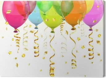 Birthday Balloons Canvas Print