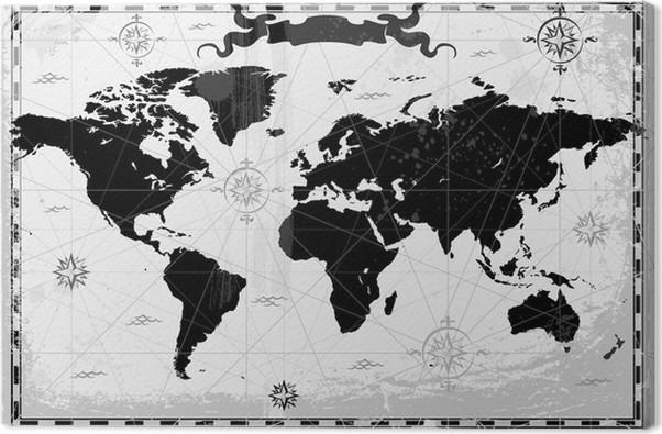 Black ancient world map canvas print pixers we live to change black ancient world map canvas print themes gumiabroncs Choice Image