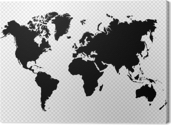 Retro world maps canvas prints pixers black silhouette isolated world map eps10 vector file canvas print gumiabroncs Choice Image