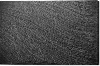 black slate texture. Black Slate Texture Canvas Print