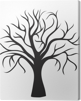 black tree without leaves Canvas Print