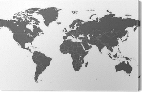 Blank grey political world map isolated on white background blank grey political world map isolated on white background worldmap vector template for website infographics design flat earth world map illustration gumiabroncs Image collections