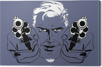 blond gangster man Canvas Print
