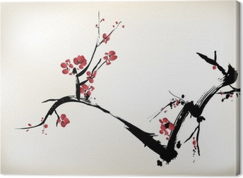 blossom painting Canvas Print
