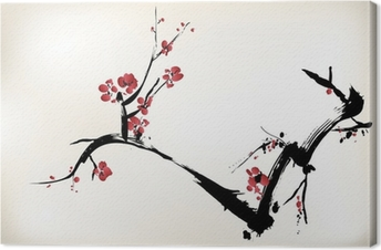 blossom painting Canvas Print
