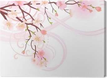 Blossoming tree design element Canvas Print