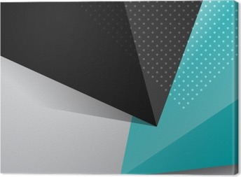 Blue and black abstract design background Canvas Print