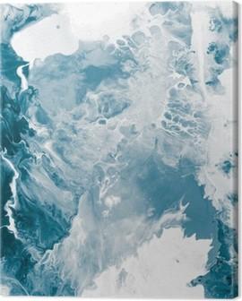 Blue marble texture. Canvas Print