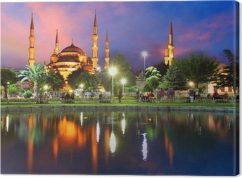 Blue mosque in Istanbul - Turkey Canvas Print