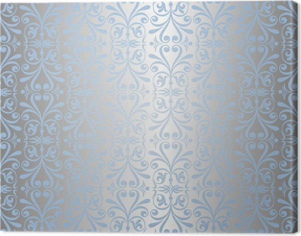 Blue Silver New Years Background Wallpaper Canvas Print