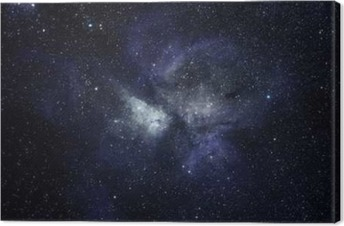 Blue space background Canvas Print