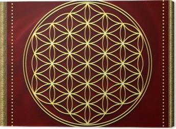 Blume des Lebens Gold Canvas Print