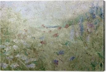 blumenwiese sommer grunge Canvas Print