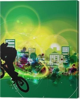 BMX cyclist Canvas Print