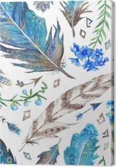 Boho Watercolor Pattern Canvas Print
