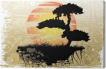 Bonsai background Canvas Print