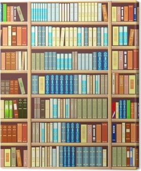 Bookcase full of books Canvas Print