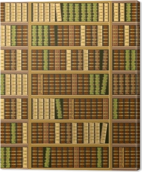 Bookcase full of old books Canvas Print