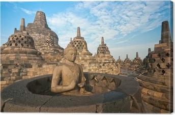 Borobudur Temple, Yogyakarta, Java, Indonesia. Canvas Print