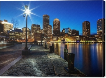 Boston city FP543 Canvas Print
