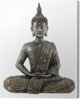 Bouddha statue de bronze zen Canvas Print