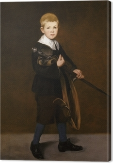 Boy with a Sword Canvas Print