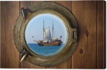 Brass Porthole Canvas Print