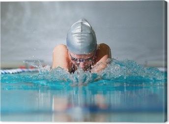 breaststroke Canvas Print