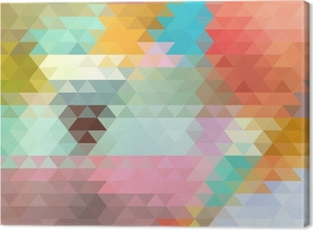bright background of the triangles Canvas Print