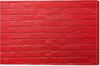 Bright Red Painted Brick Wall Canvas Print
