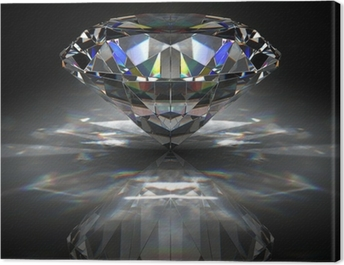 Brilliant diamond Canvas Print