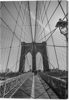 Brooklyn Bridge black and white Canvas Print