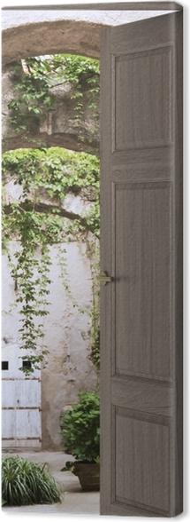 Brown door - Arcade Canvas Print - medieval