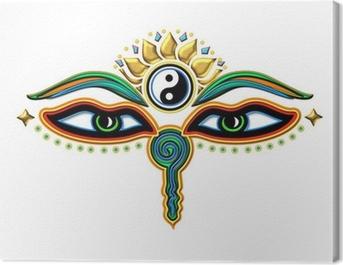 Buddha Augen Yin Yang Canvas Print