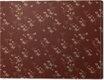 Burgundy little forest - Nina Ho Canvas Print