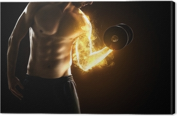 Burning Muscles Canvas Print