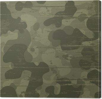 Camouflage military background. Vector illustration, EPS10 Canvas Print