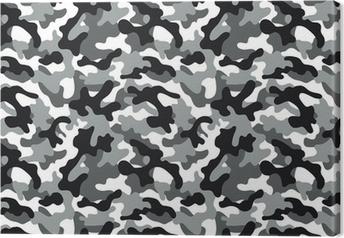 Camouflage seamless pattern Canvas Print