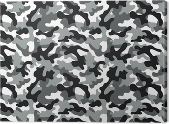 Camouflage seamless pattern Canvas Print
