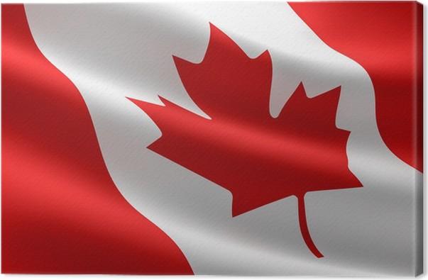 Canadian Flag Canvas Print
