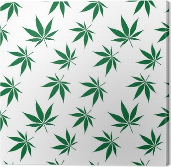 cannabis seamless pattern extended Canvas Print
