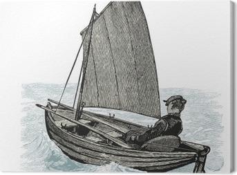 canot à voile Canvas Print