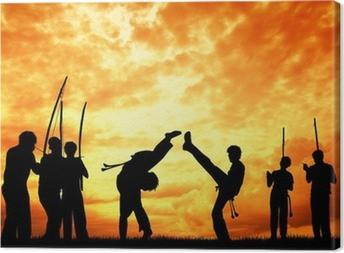 Capoeira at sunset Canvas Print