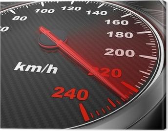 Car Speedometer Canvas Print