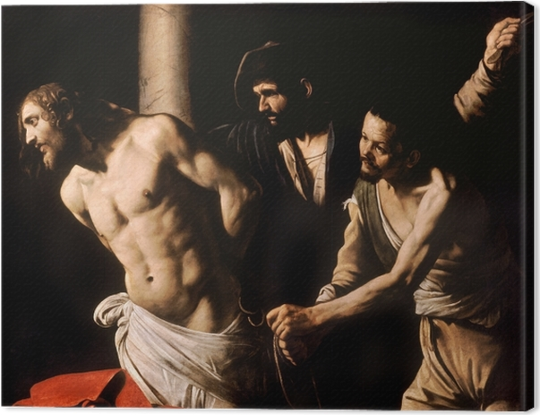 Caravaggio - Flagellation of Christ Canvas Print - Reproductions