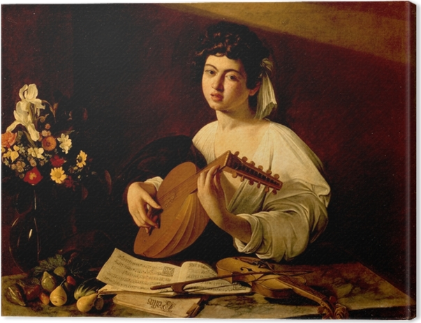 Caravaggio - Playing the Lute Canvas Print - Reproductions