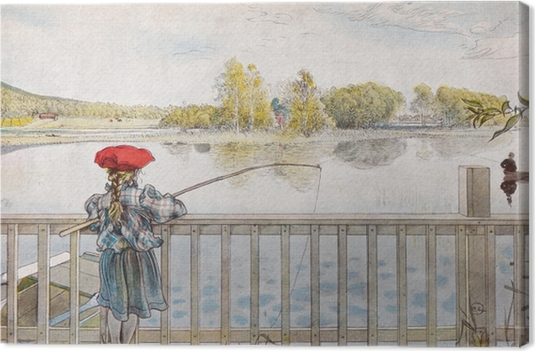 Carl Larsson - Lisbeth Fishing Canvas Print - Reproductions