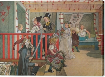 Carl Larsson - Nameday at the Storage House Canvas Print