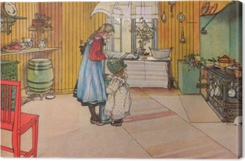 Carl Larsson - The Kitchen Canvas Print